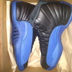 Jordan 12s black blue